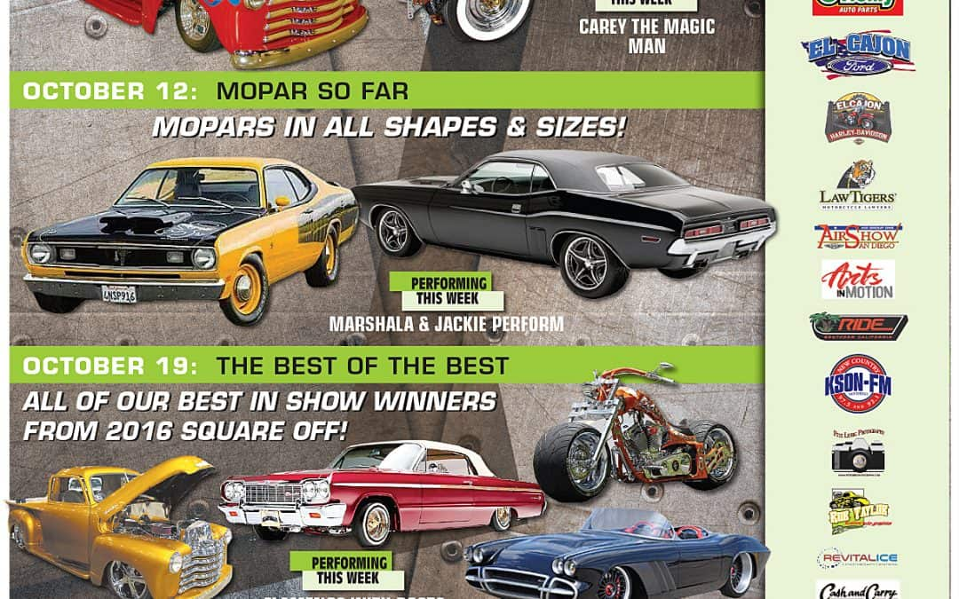 Car show schedule for October is out now!
