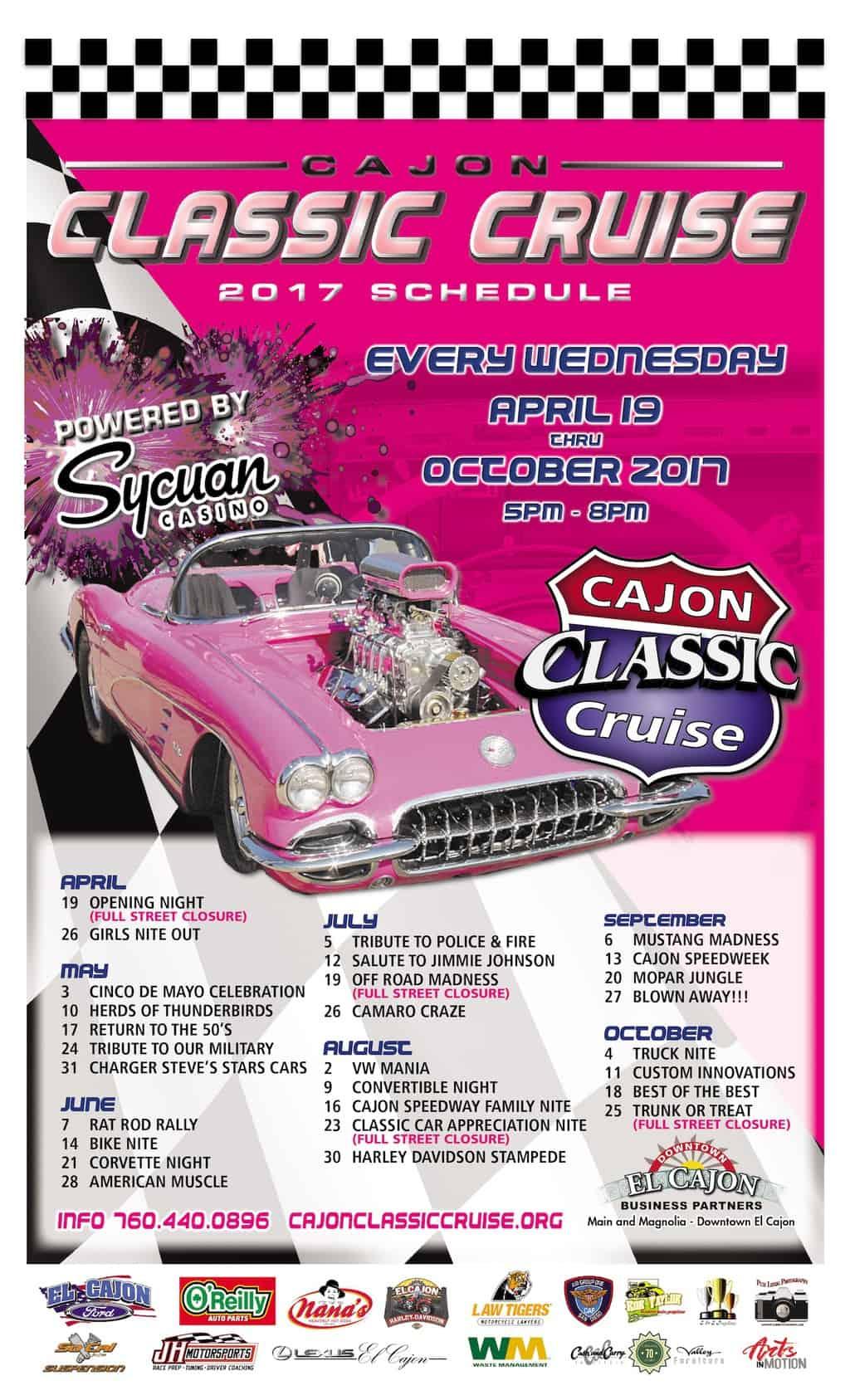 Car Show Poster Downtown El Cajon - Car show schedule