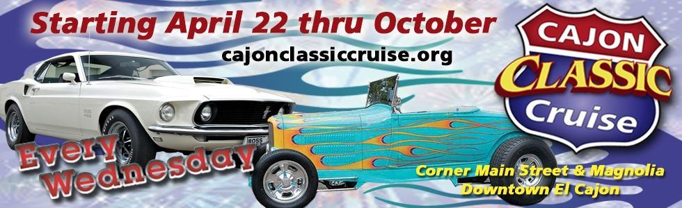Cajon Classic Cruise Car Show Banner 2015 Downtown El Cajon