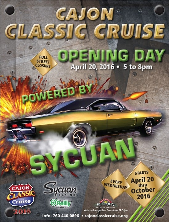Cajon Classic Cruise Opening Day 2016 | Downtown El Cajon