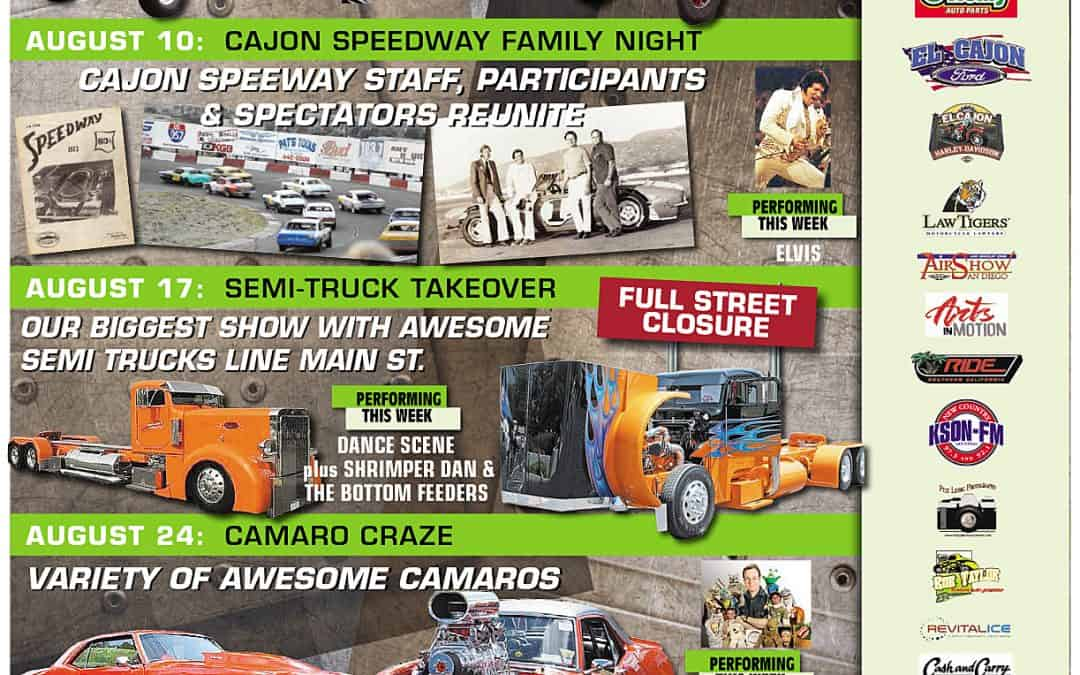 Car show schedule for August is out now!