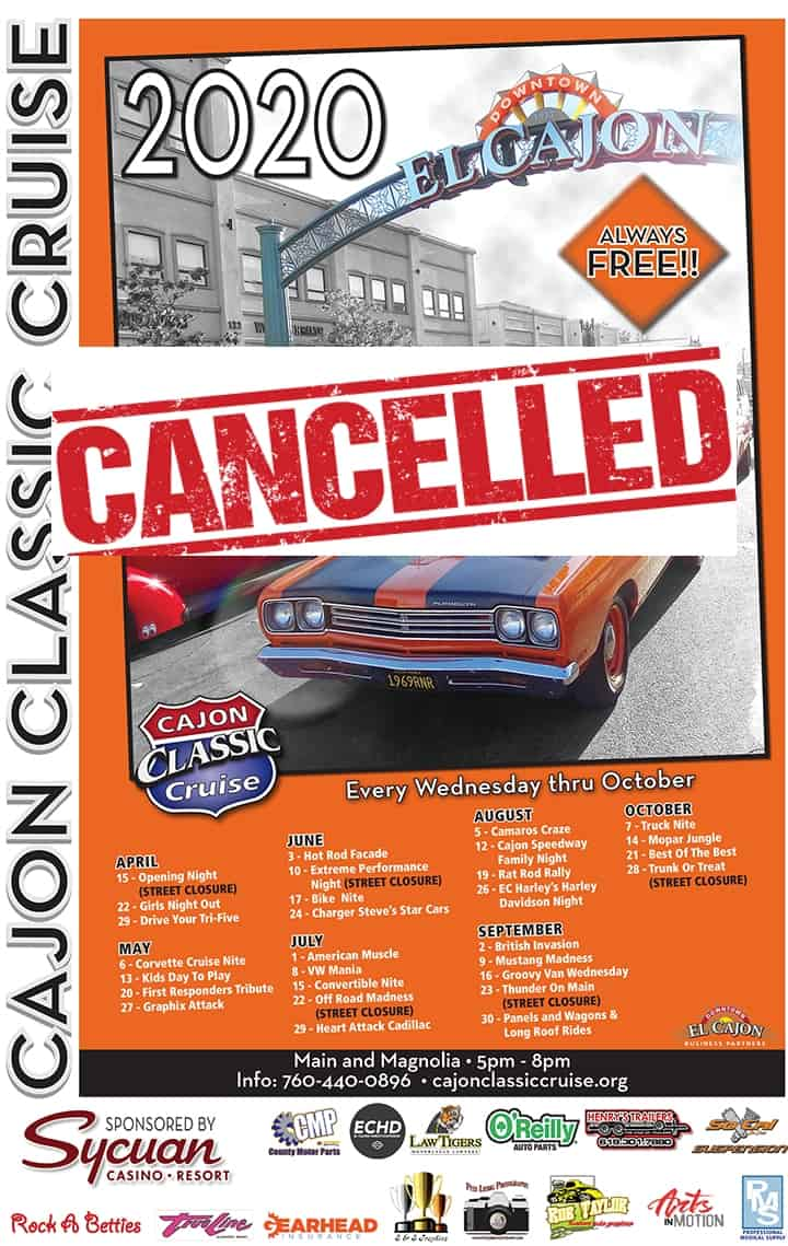 Cajon Classic Cruise Car Shows Opening Day 2020 | Downtown El Cajon