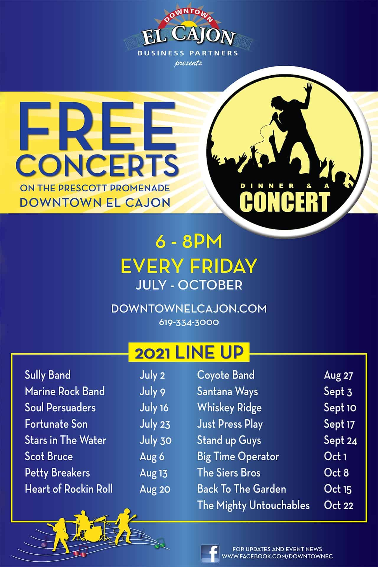 Dinner And A Concert Shows 2021 Schedule   Downtown El Cajon